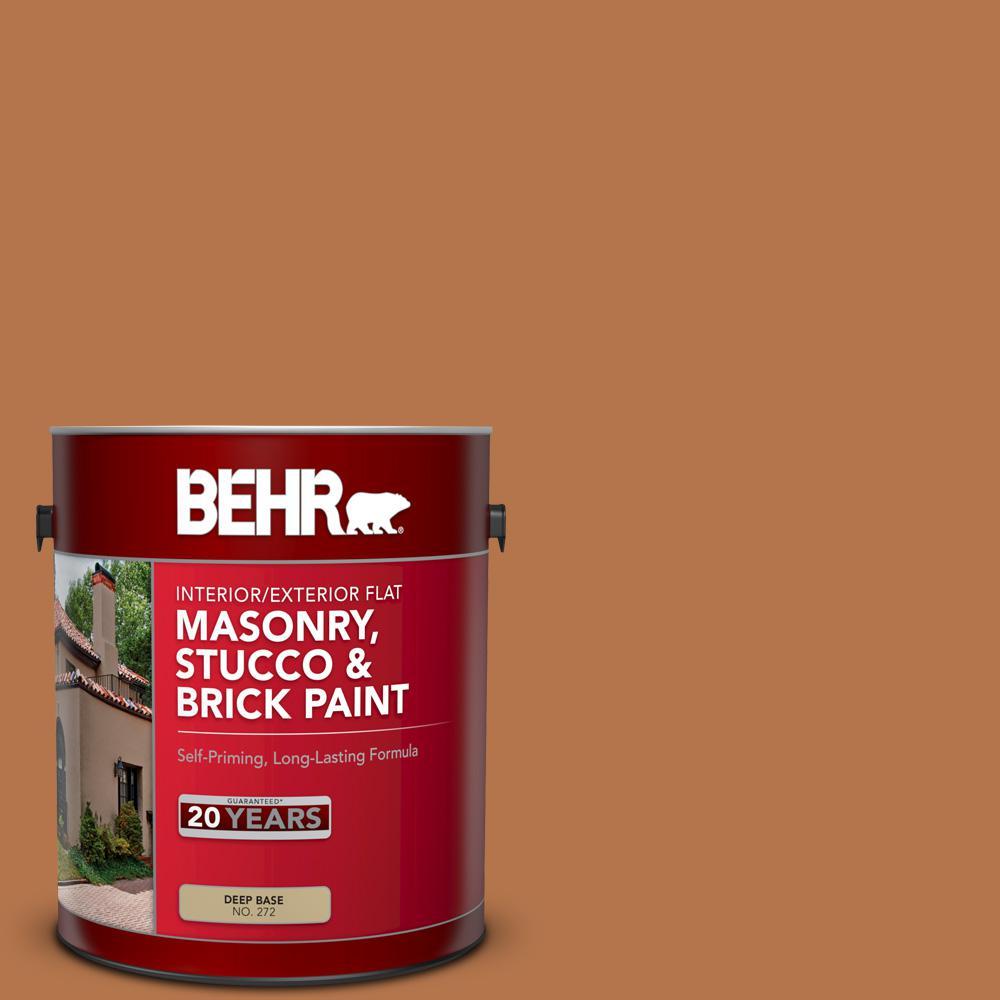 1 gal. #SC-533 Cedar Naturaltone Flat Interior/Exterior Masonry, Stucco and Brick Paint