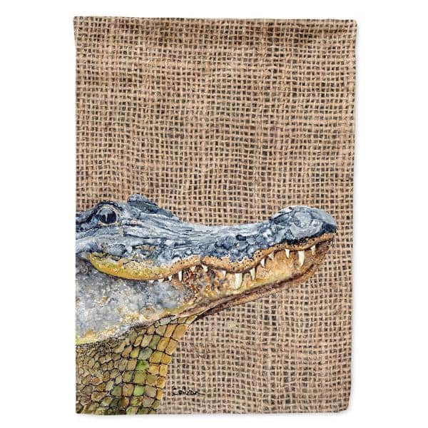 Caroline S Treasures 28 In X 40 In Polyester Alligator Flag Canvas House Size 2 Sided Heavyweight 8733chf The Home Depot
