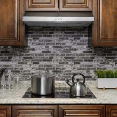 36 in. 58 CFM Kitchen Ducted Under Cabinet Range Hood in Brushed Stainless Steel with Carbon Filters and Push Button