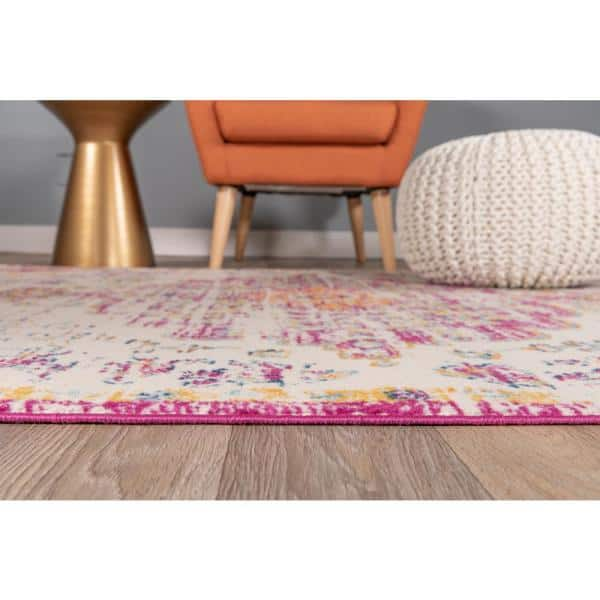World Rug Gallery Vintage Traditional Bohemian 7 Ft 10 In X 10 Ft Pink Area Rug Mon837pink8x10 The Home Depot