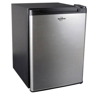 Stainless Steel Compact Fridge, 1.76 Cubic Feet, AC/DC