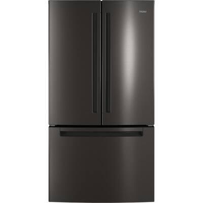 27.0 cu. ft. French Door Refrigerator in Black Stainless Steel, Fingerprint Resistant and ENERGY STAR