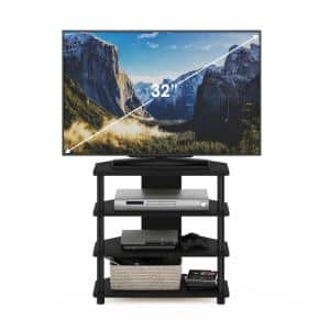 Turn-N-Tube 24 in. Black Particle Board TV Stand Fits TVs Up to 32 in. with Open Storage