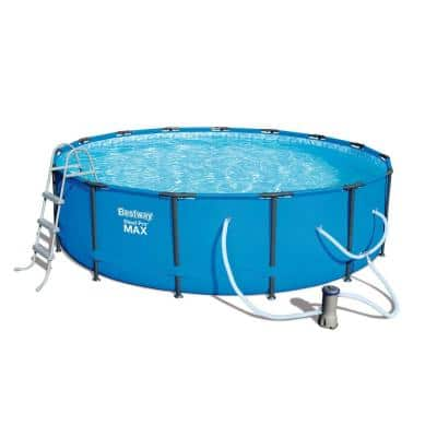 Steel Pro 15 ft. Round x 42 in. D Above Ground Pool Package