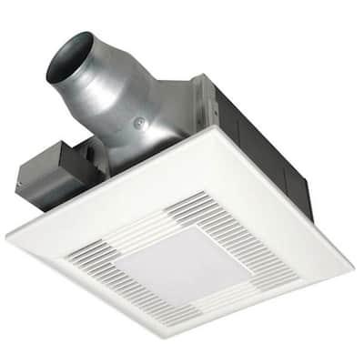 WhisperFit EZ 80/110CFM Ceiling Bathroom Exhaust Fan, LED, Flex-Z Fast Bracket, 4 in. Duct w/3 in. Adapter, ENERGY STAR