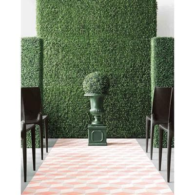 Gorgeous Home Artificial Boxwood Hedge Greenery Panels Milan 20 in. x 20 in. / Piece (Set of 24-Piece)