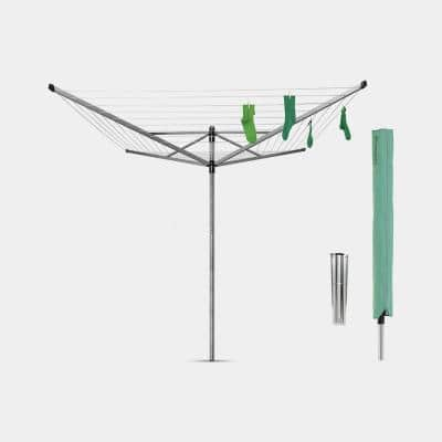 116 x 116 Inch Rotary Clothesline Lift-O-Matic with Ground Spike and Protective Cover