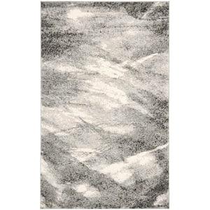 Retro Grey/Ivory 6 ft. x 9 ft. Area Rug