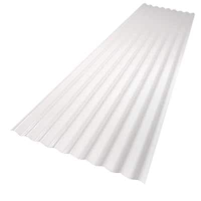 26 in. x 12 ft. White PVC Roof Panel