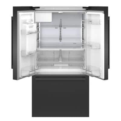 500 Series 36 in. 21 cu. ft. French Door Refrigerator in Black Stainless Steel with Fastest Ice Maker, Counter Depth