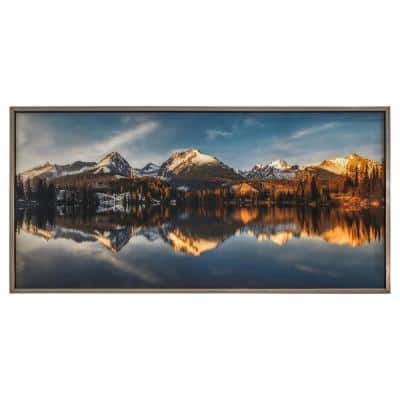 """""""Identic Image"""" Champagne Frame Photography Wall Art 30 in. 60 in."""