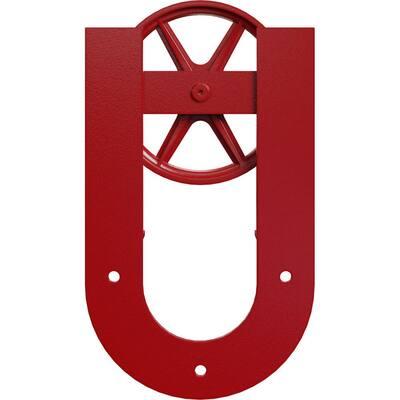 1-5/8 in. x 8 in. x 13-5/8 in. Steel Premium Wagon Wheel Horseshoe Roller Hanger Moulding Regal Red