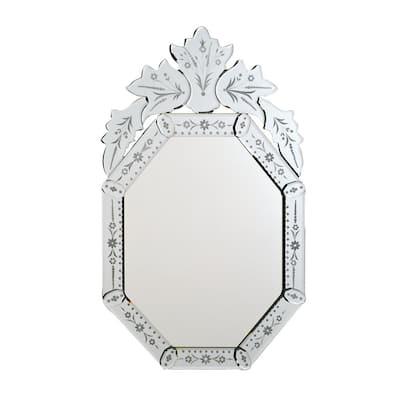 Radiance 20 in. W x 32 in. H Framed Octagon Bathroom Vanity Mirror in Clear