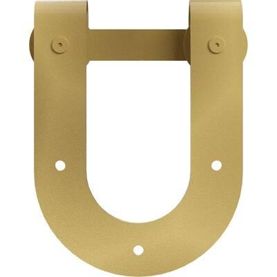 1-1/2 in. x 8 in. x 10-3/4 in. Steel Premium Horseshoe Roller Hanger Moulding Jacob's Gold