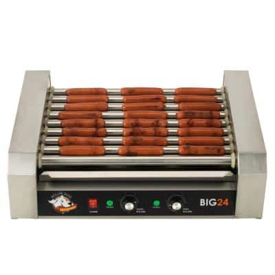289 sq. in. Stainless Steel Hot Dog Roller Grill