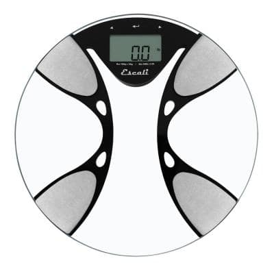 Digital Glass Body Fat and Water Bathroom Scale