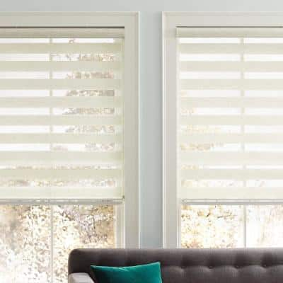 Cut-to-Size Natural Corded Light Filtering Roller Shades 51 in. W x 72 in. L