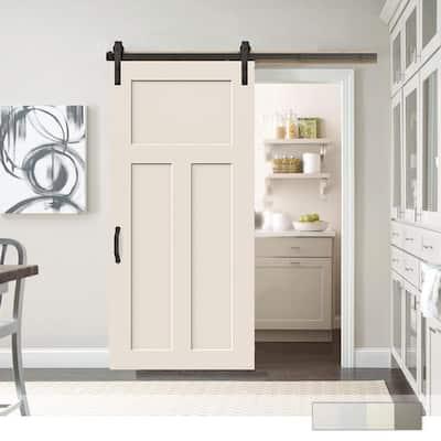 Craftsman Primed Smooth Molded Barn Door