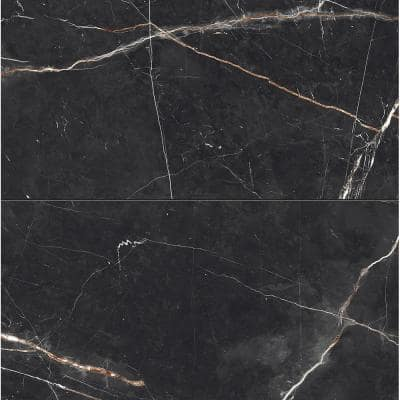 Impero Black 12 in. x 24 in. Porcelain Floor and Wall Tile (15.50 sq. ft./Case)