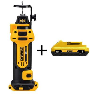 20-Volt MAX Cordless Drywall Cut-Out Tool with (1) 20-Volt Battery 3.0Ah