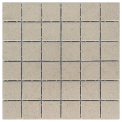 Manvel Ash Matte 12 in. x 12 in. Glazed Ceramic Mosaic Tile (1 sq. ft./Each)