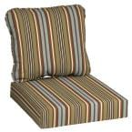24 in. x 22 in. Southwest Toffee Stripe Deep Seating Outdoor Lounge Chair Cushion