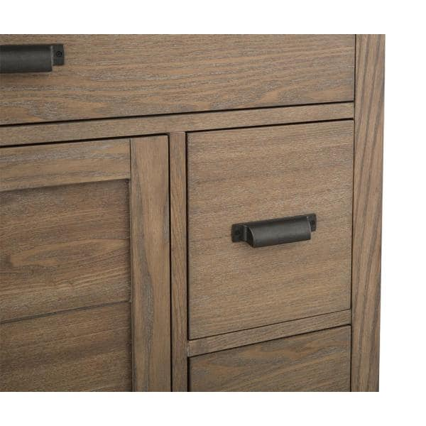 Home Decorators Collection Stanhope 37 In W X 22 In D Vanity In Reclaimed Oak With Engineered Stone Vanity Top In Crystal White With White Sink Snovt3722dr The Home Depot