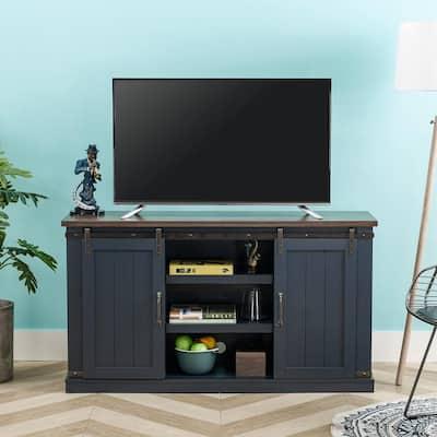Blue Tv Stands Living Room Furniture The Home Depot