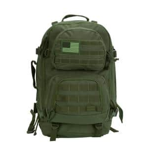 Military Tactical 20 in. Green Laptop Backpack