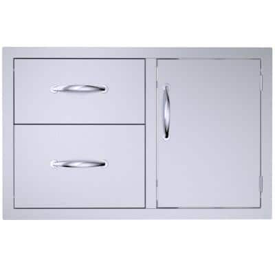 Classic Series 36 in Stainless Steel 2 Drawer Door Combo