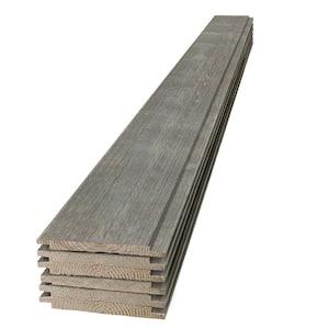 1 in. x 8 in. x 6 ft. Barn Wood Gray Shiplap Pine Board (6-Pack)
