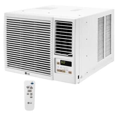 18,000 BTU 230/208-Volt Window Air Conditioner with Cool, Heat and Wi-Fi Control in White
