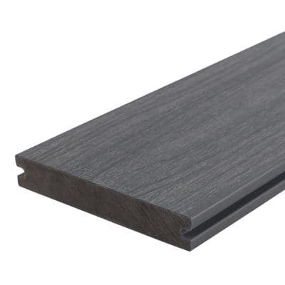 UltraShield Naturale Magellan 1 in. x 6 in. x 8 ft. Westminster Gray Solid with Groove Composite Decking Board