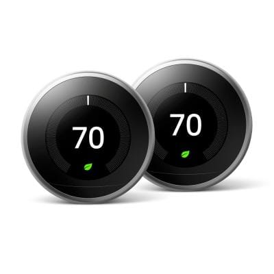 Nest Learning Thermostat 3rd Gen in Stainless Steel (2-Pack)