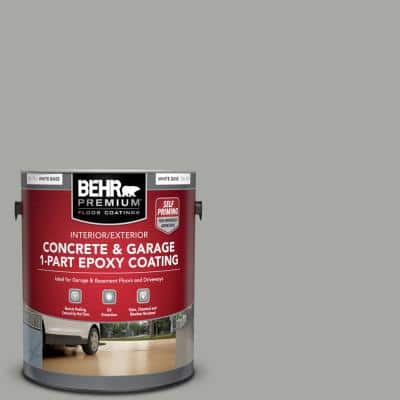 1 Gal. #PFC-68 Silver Gray Self-Priming 1-Part Epoxy Satin Interior/Exterior Concrete and Garage Floor Paint