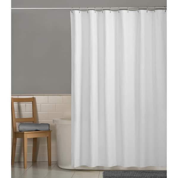 Blurred White Waterproof Bathroom Polyester Shower Curtain Liner Water Resistant