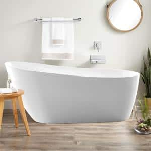Bourges 55 in. Acrylic Flatbottom Bathtub in White