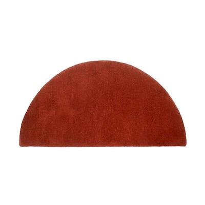 2 ft. x 4 ft.  Somerville Half Round Hearth Rug, Red