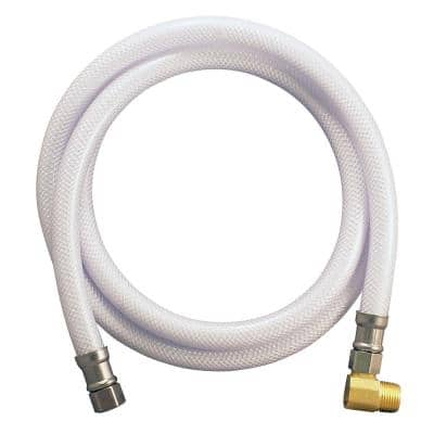 3/8 in. x 3/8 in. Comp x MIP 60 in. Braided PVC Dishwasher Connector with Elbow