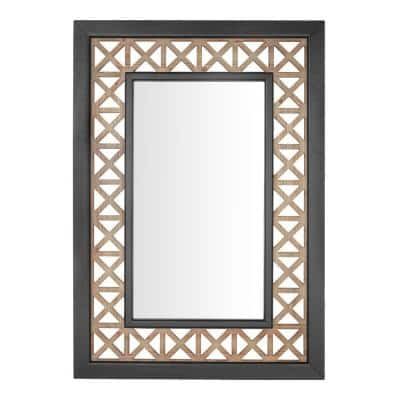 Large Rectangle Multi-Colored Antiqued Classic Accent Mirror (41 in. H x 29 in. W)