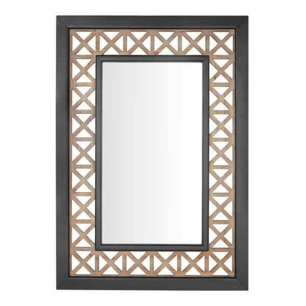 Home Decorators Collection Large Rectangle Multi Colored Antiqued Classic Accent Mirror 41 In H X 29 In W 18mje2036 The Home Depot