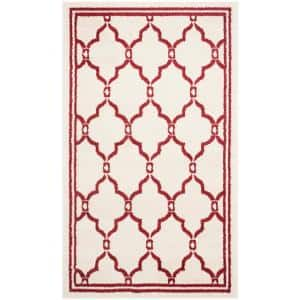 Amherst Ivory/Red 3 ft. x 5 ft. Area Rug