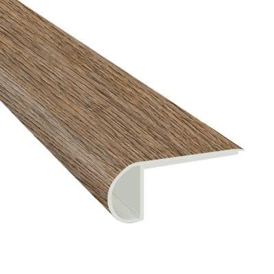 Edwards Oak 3/4 in. Thick x 2 3/4 in. Wide x 94 in. Length Luxury Vinyl Flush Stair Nose Molding
