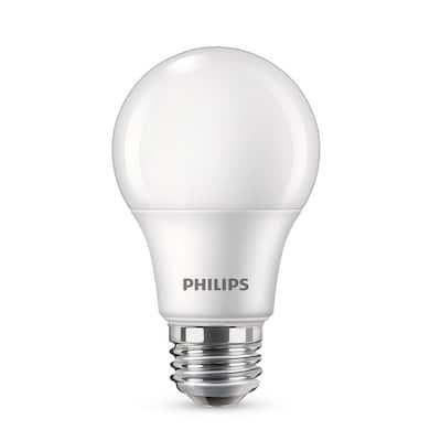 60-Watt Equivalent A19 Non-Dimmable Energy Saving LED Light Bulb Soft White (2700K) (4-Pack)