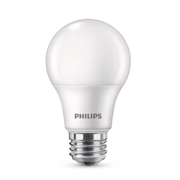 Philips 60-Watt Equivalent A19 Non-Dimmable Energy Saving LED Light Bulb  Soft White (2700K) (4-Pack)-461129 - The Home Depot