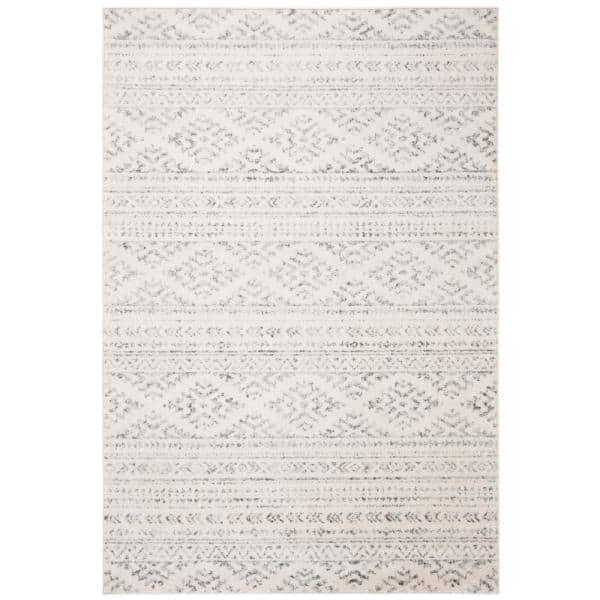 Safavieh Tulum Ivory Gray 6 Ft X 9 Ft Area Rug Tul272a 6 The Home Depot