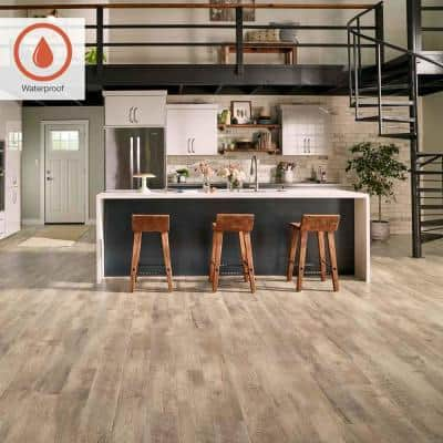 Outlast+ 6.14 in. W Southport Oak Waterproof Laminate Wood Flooring (16.12 sq. ft./case)