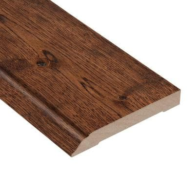 Wire Brushed Gunstock Oak 1/2 in. Thick x 3-1/2 in. Wide x 94 in. Length Wall Base Molding