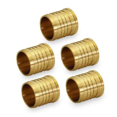 3/8 in. Brass PEX Barb Plug End Cap Pipe Fitting (5-Pack)