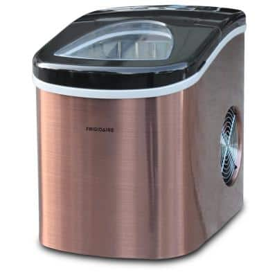 26 lb. Portable Counter Top Ice Maker in Stainless Copper